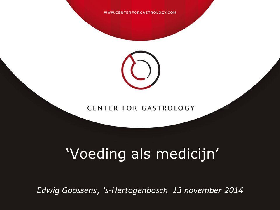 'Voeding als medicijn'