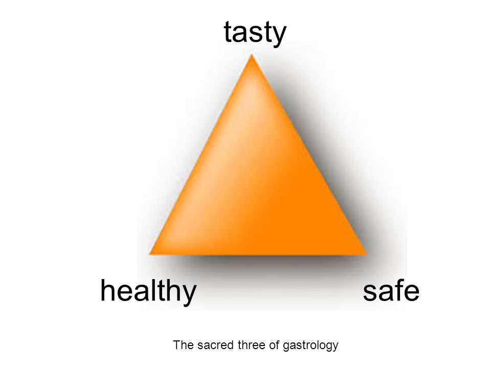tasty healthy safe The sacred three of gastrology