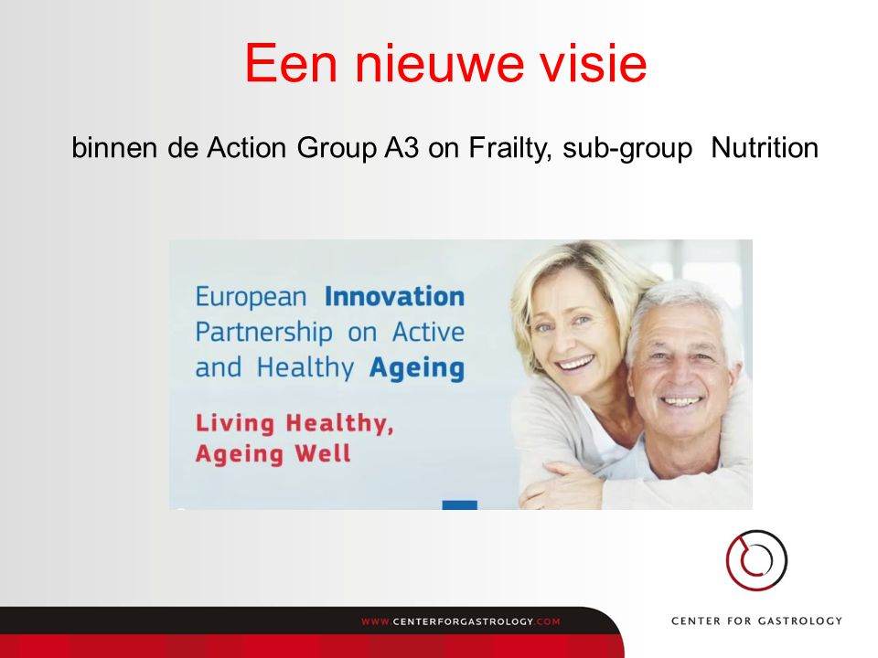 binnen de Action Group A3 on Frailty, sub-group Nutrition