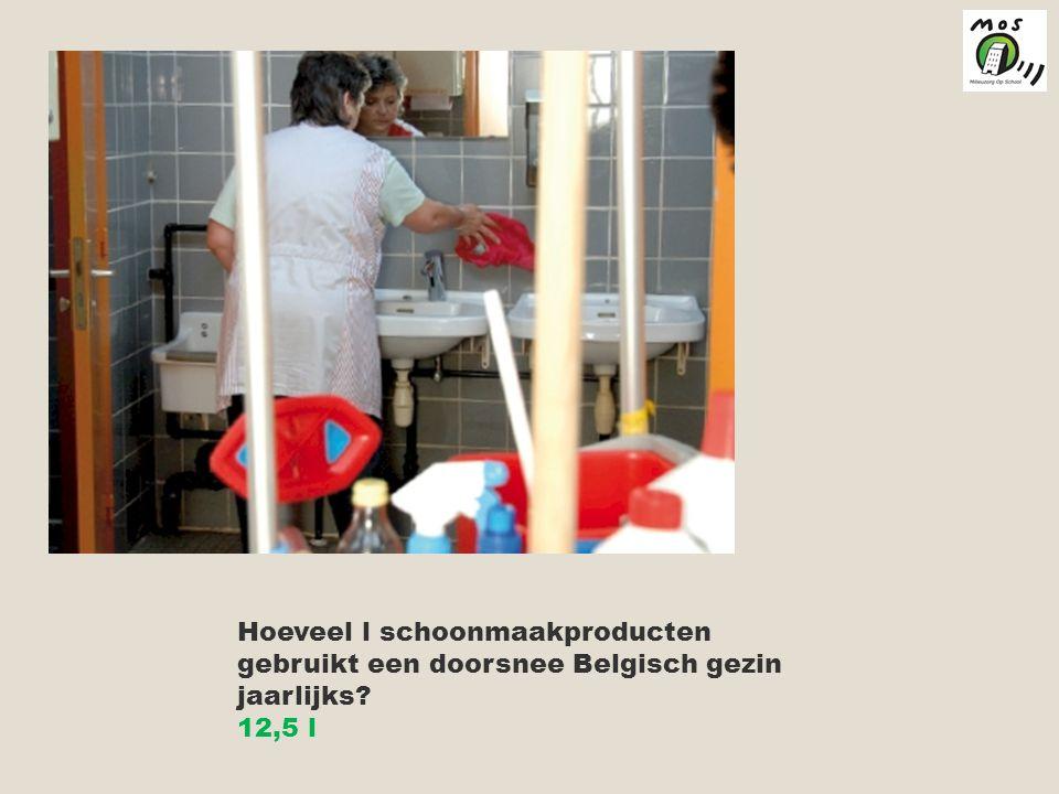 Hoeveel l schoonmaakproducten gebruikt een doorsnee Belgisch gezin jaarlijks