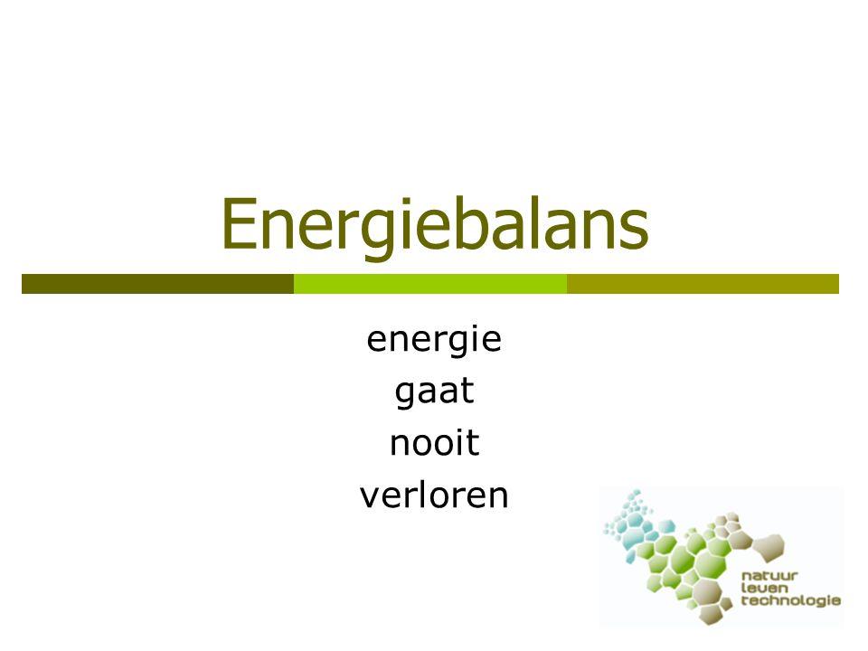 energie gaat nooit verloren