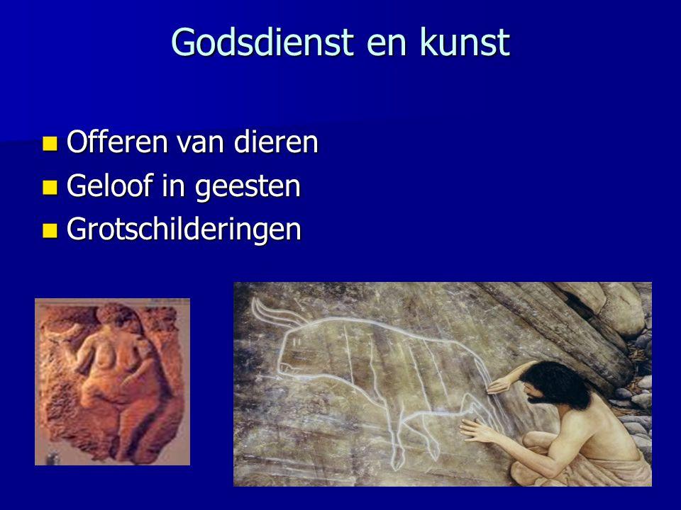 Godsdienst en kunst Offeren van dieren Geloof in geesten