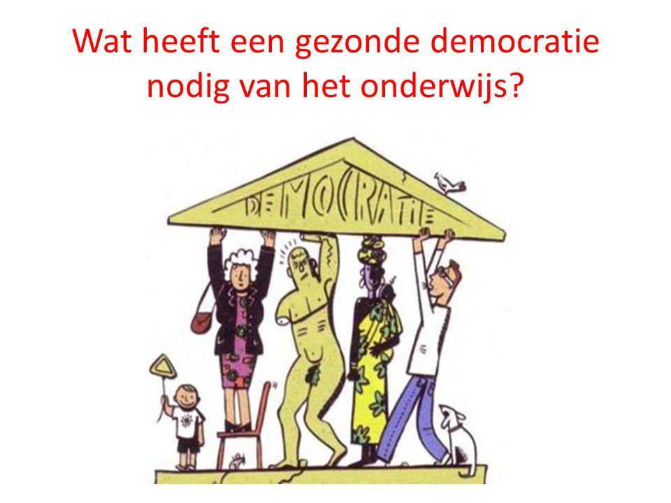 Wat heeft een gezonde democratie nodig van het onderwijs