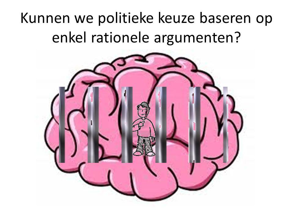 Kunnen we politieke keuze baseren op enkel rationele argumenten