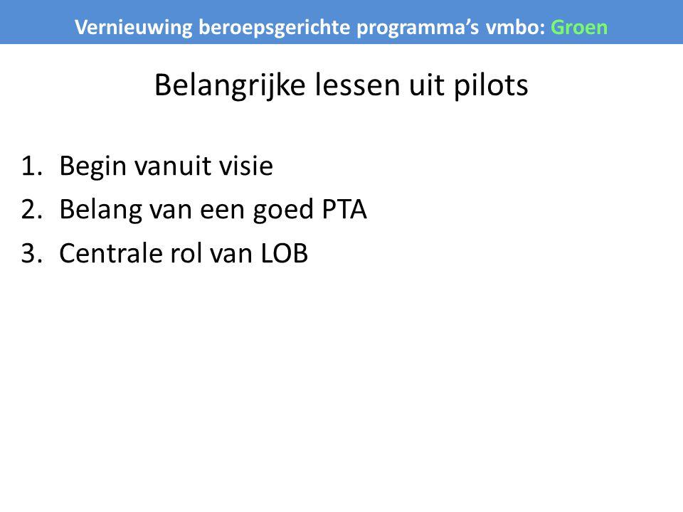 Belangrijke lessen uit pilots