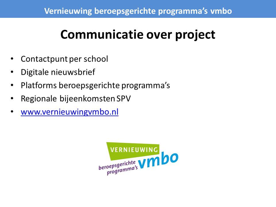 Communicatie over project