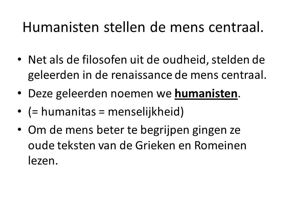 Humanisten stellen de mens centraal.