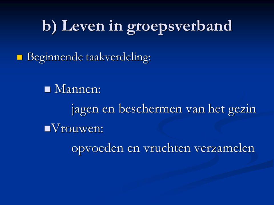 b) Leven in groepsverband