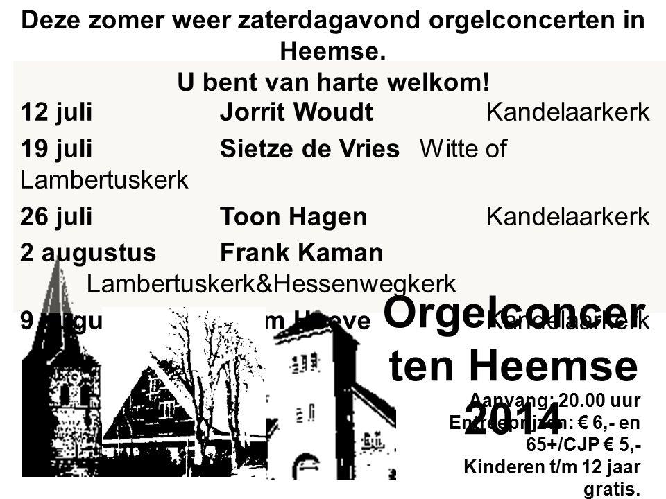 Orgelconcerten Heemse 2014
