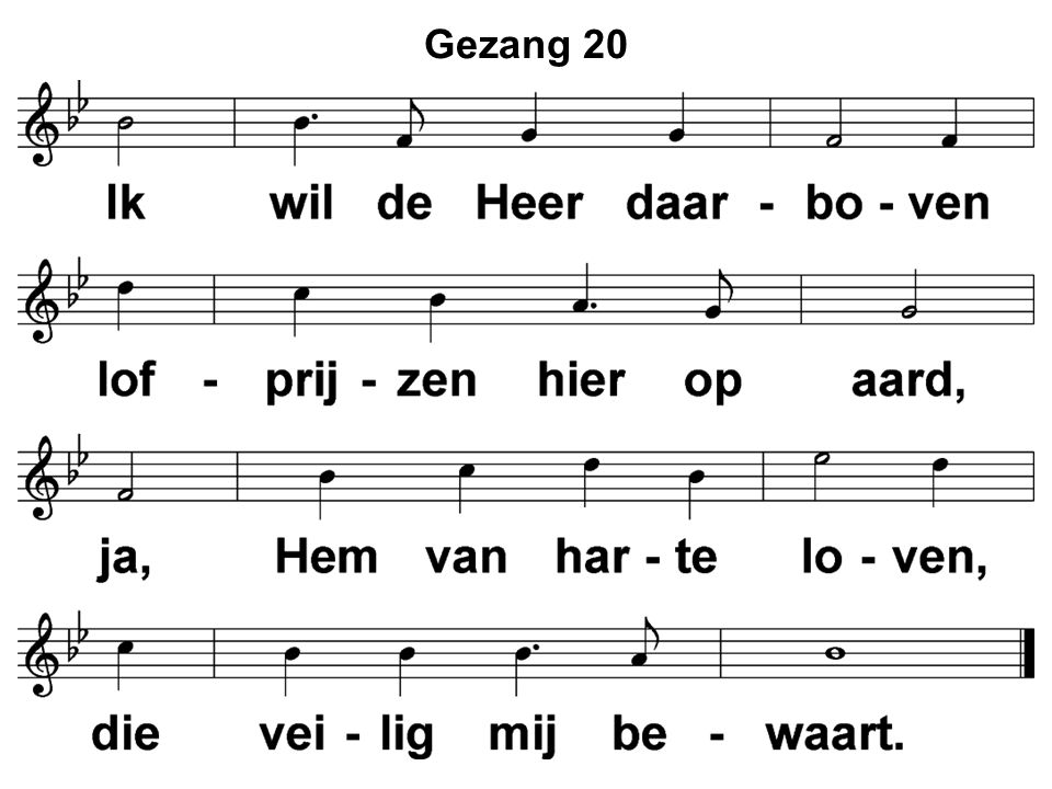 Gezang 20