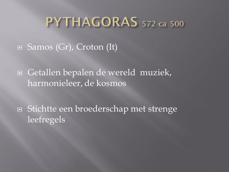 PYTHAGORAS 572-ca 500 Samos (Gr), Croton (It)