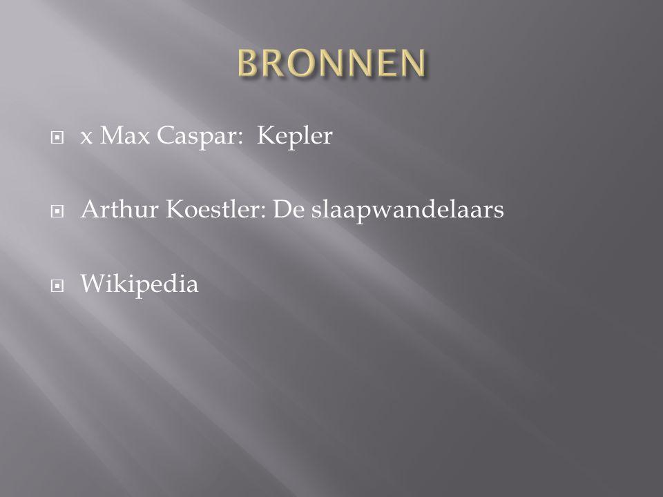 BRONNEN x Max Caspar: Kepler Arthur Koestler: De slaapwandelaars