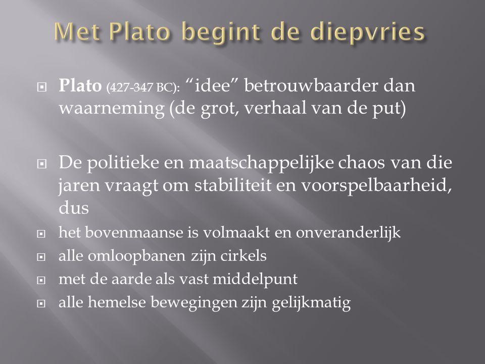 Met Plato begint de diepvries