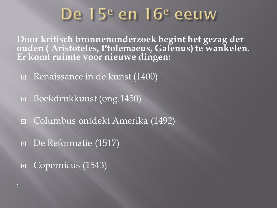 De 15e en 16e eeuw
