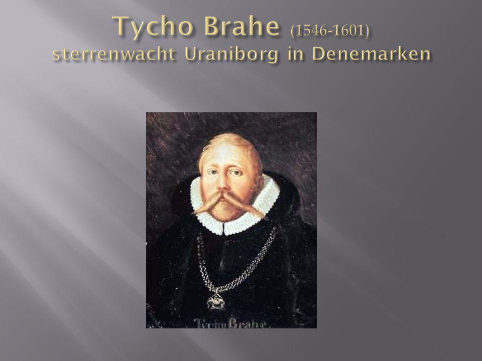 Tycho Brahe (1546-1601) sterrenwacht Uraniborg in Denemarken
