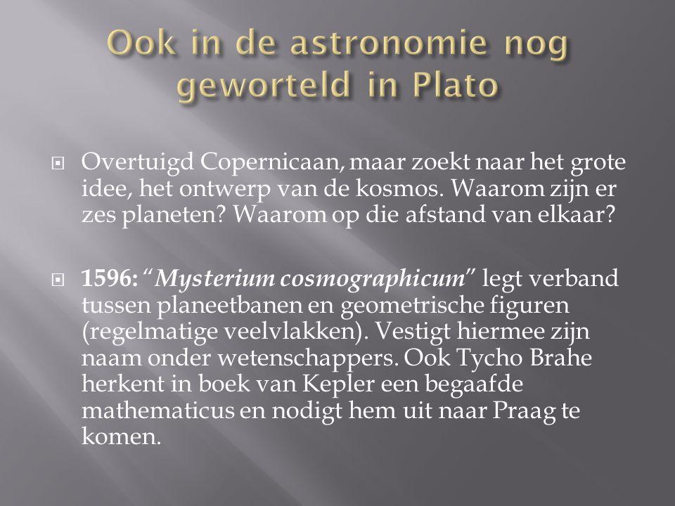 Ook in de astronomie nog geworteld in Plato