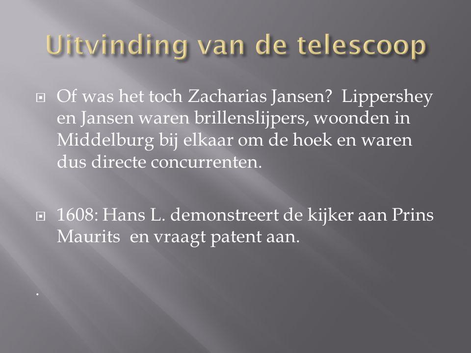 Uitvinding van de telescoop