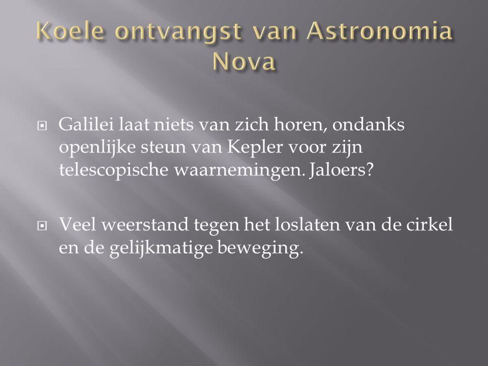 Koele ontvangst van Astronomia Nova