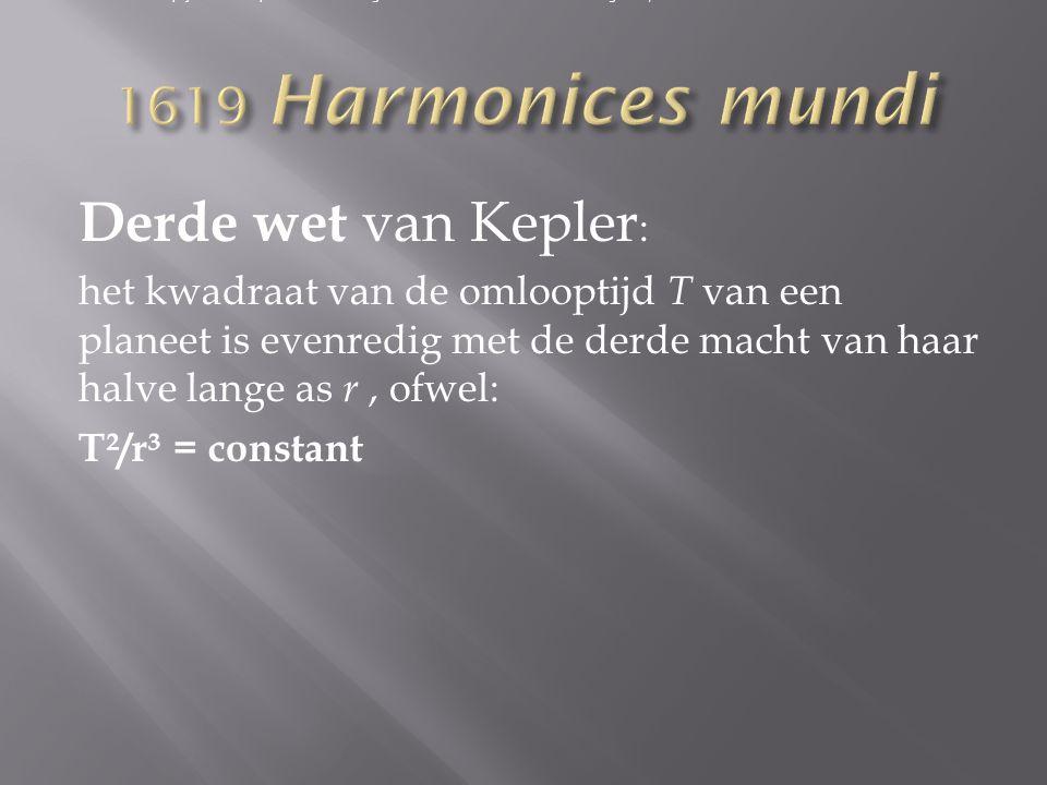Derde wet van Kepler: 1619 Harmonices mundi