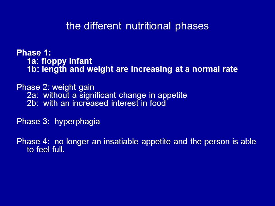 the different nutritional phases