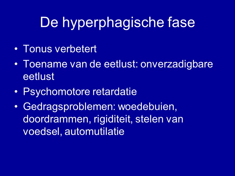 De hyperphagische fase
