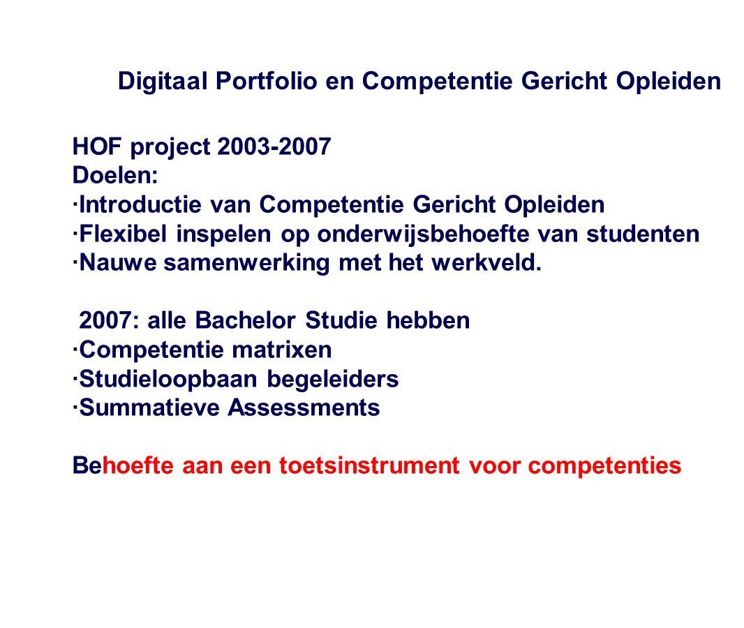 Digitaal Portfolio en Competentie Gericht Opleiden