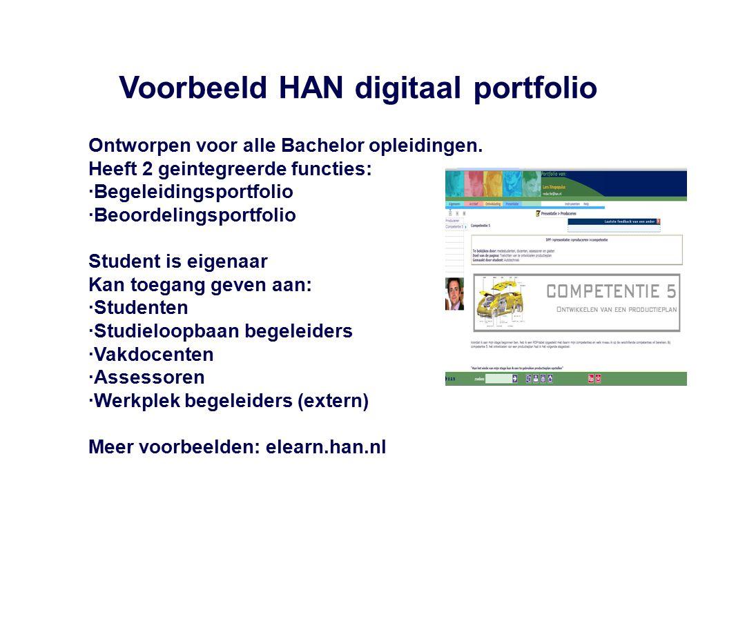 Voorbeeld HAN digitaal portfolio