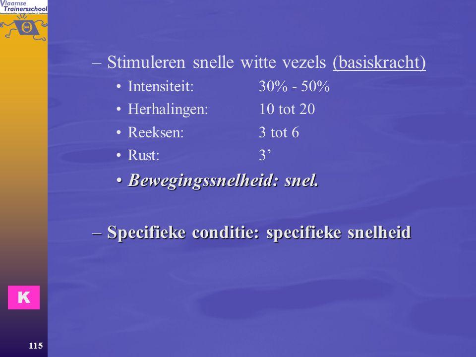 Stimuleren snelle witte vezels (basiskracht)