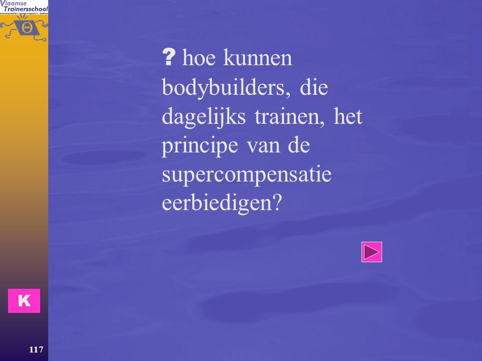hoe kunnen bodybuilders, die dagelijks trainen, het principe van de supercompensatie eerbiedigen