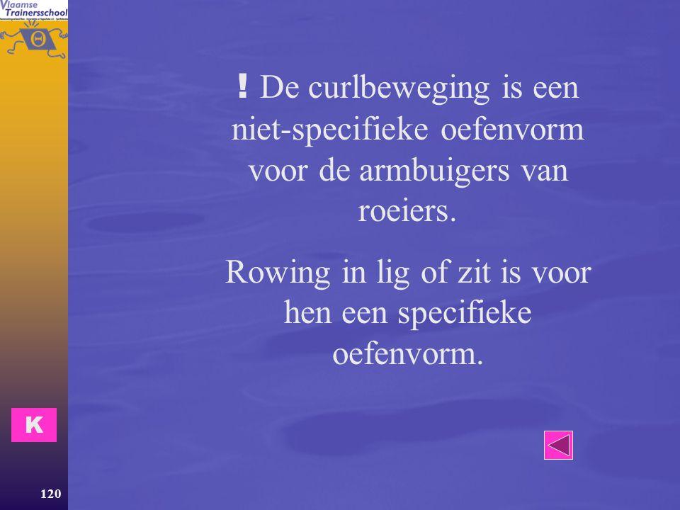 Rowing in lig of zit is voor hen een specifieke oefenvorm.