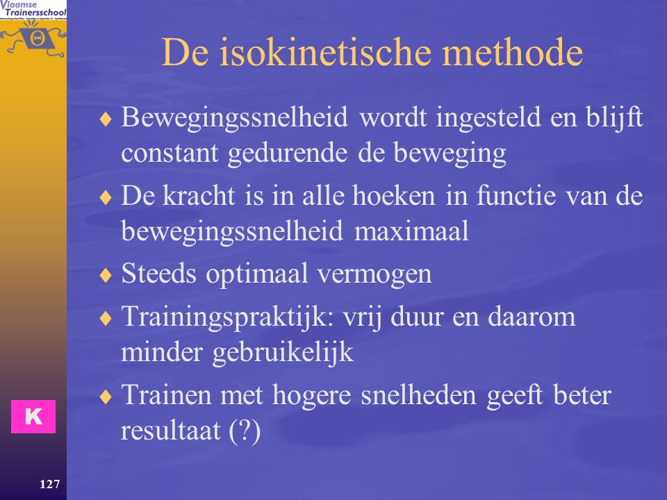 De isokinetische methode