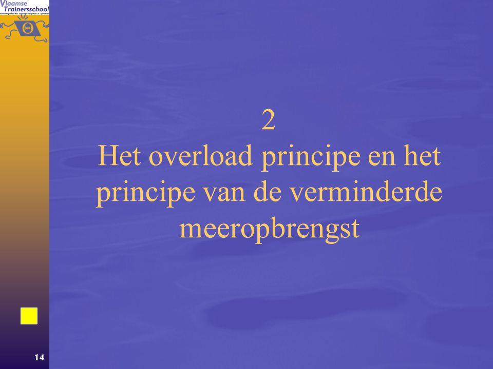 2 Het overload principe en het principe van de verminderde meeropbrengst