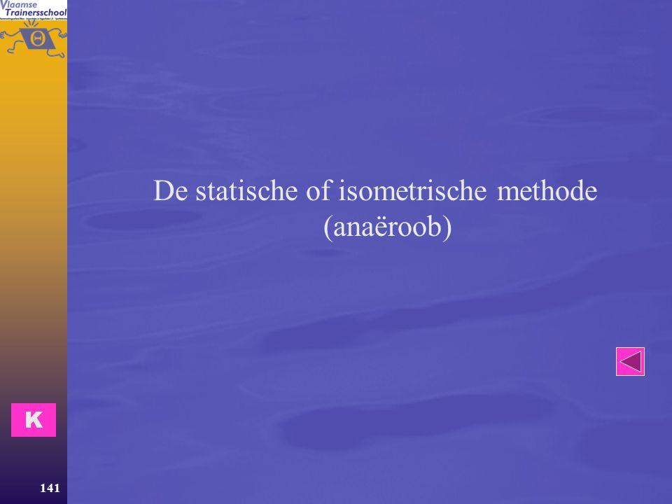 De statische of isometrische methode (anaëroob)