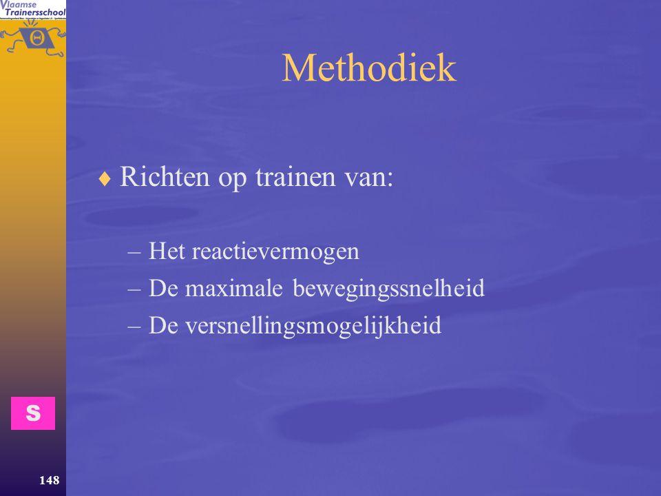Methodiek Richten op trainen van: Het reactievermogen