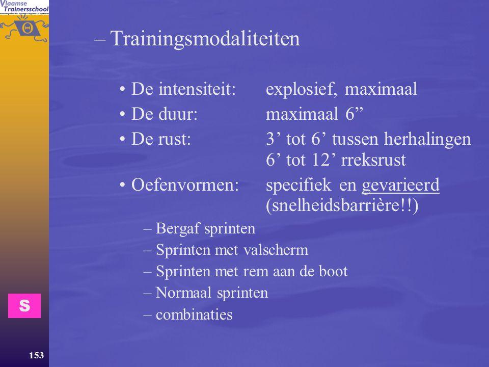 Trainingsmodaliteiten