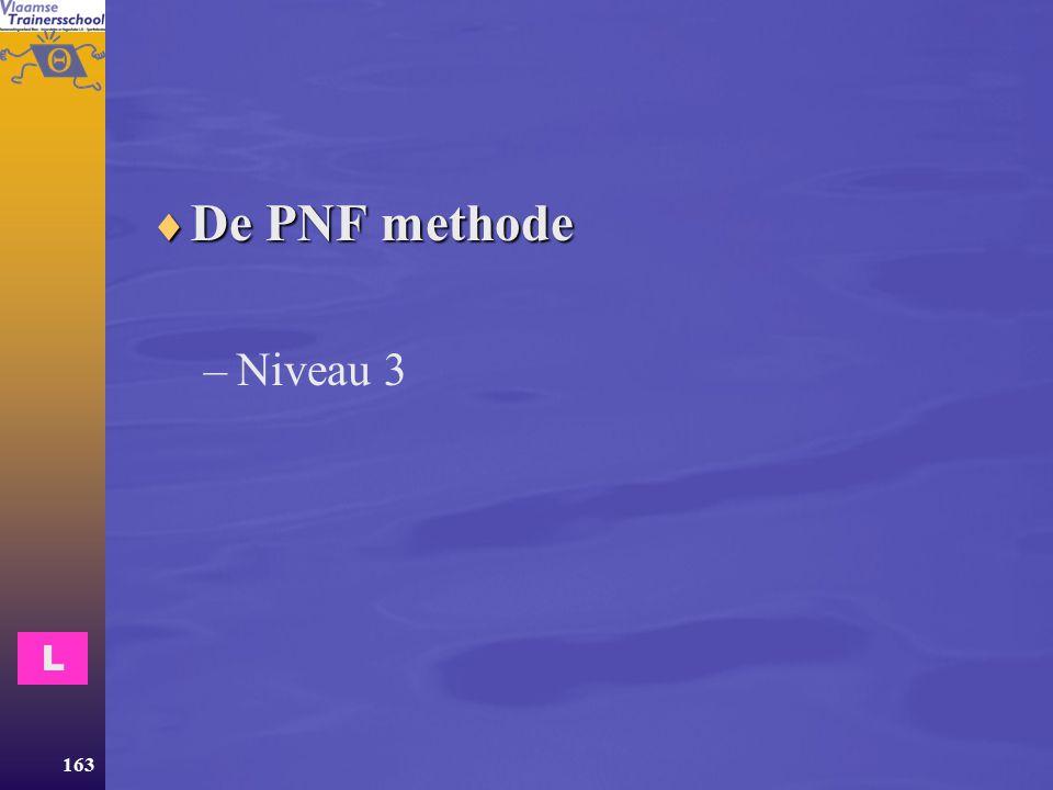 De PNF methode Niveau 3 L
