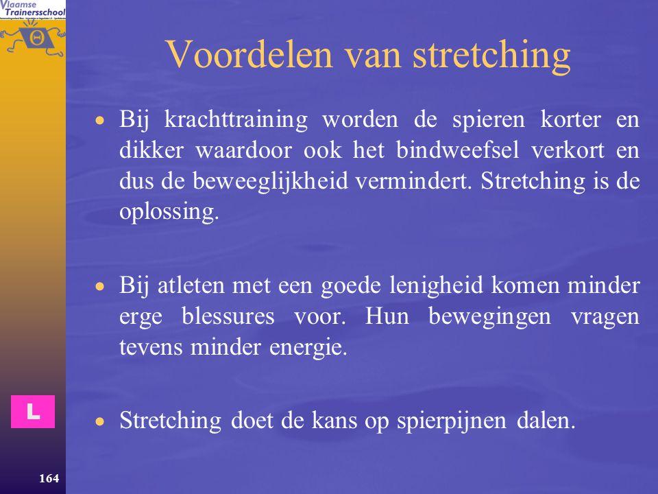 Voordelen van stretching