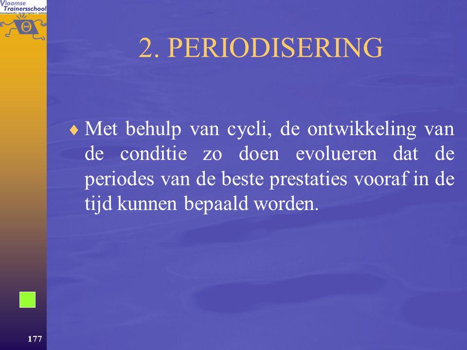 2. PERIODISERING
