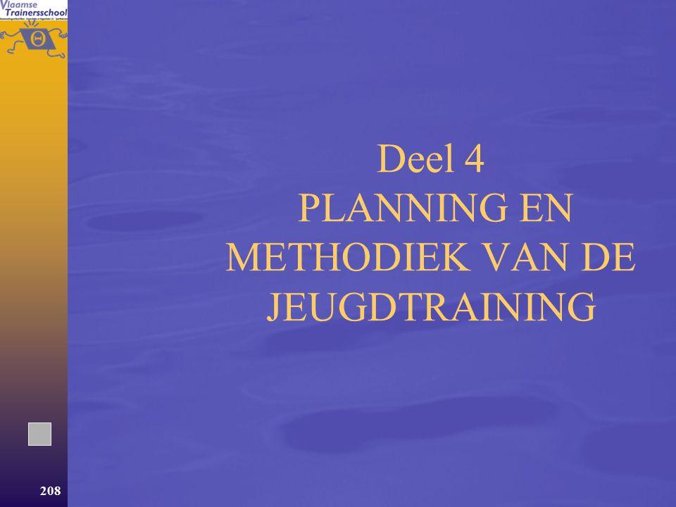 Deel 4 PLANNING EN METHODIEK VAN DE JEUGDTRAINING