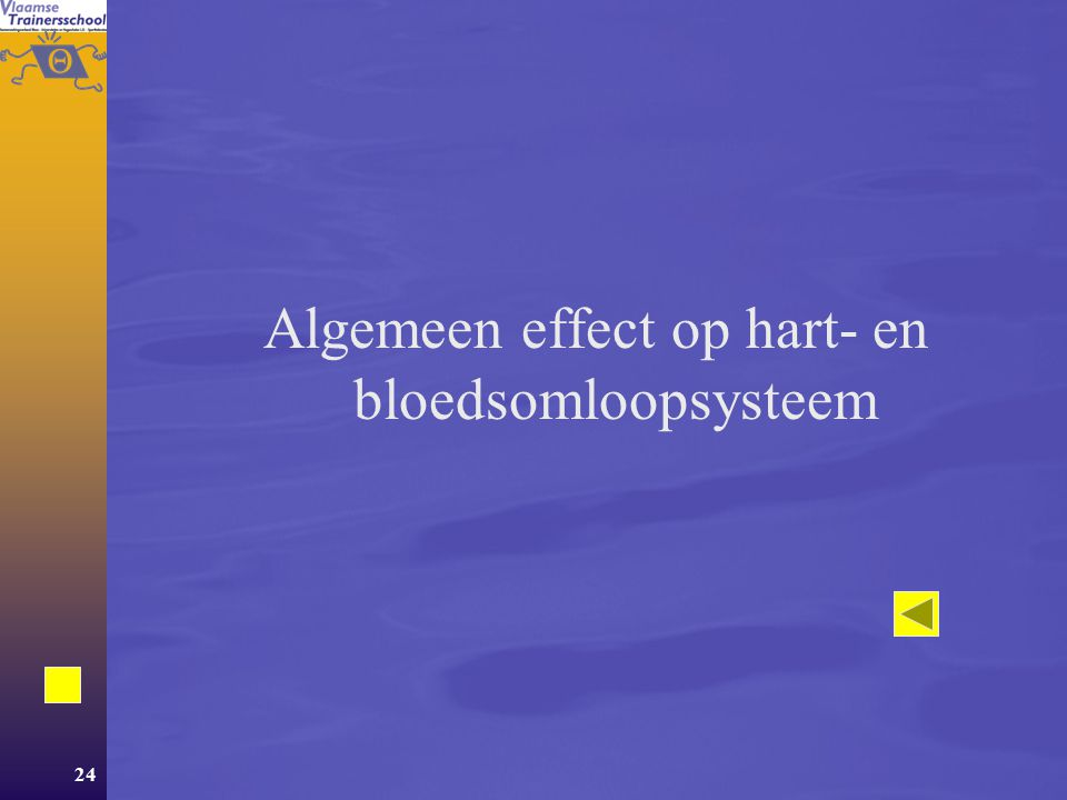 Algemeen effect op hart- en bloedsomloopsysteem
