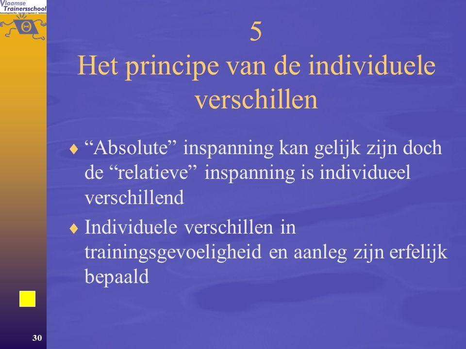 5 Het principe van de individuele verschillen