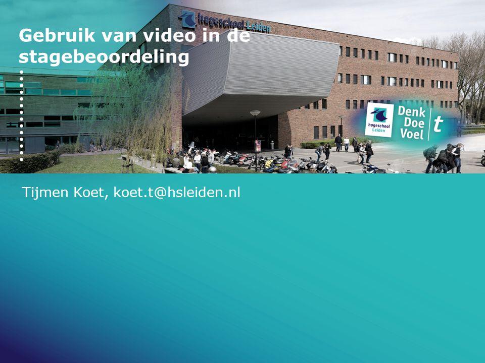 Gebruik van video in de stagebeoordeling