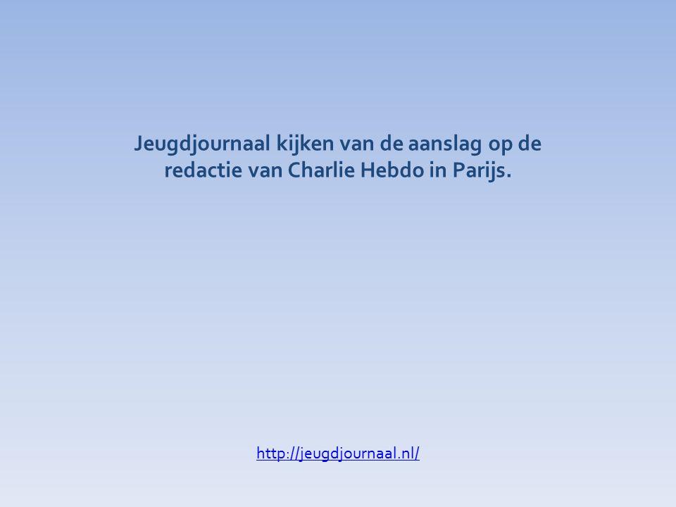 Jeugdjournaal kijken van de aanslag op de redactie van Charlie Hebdo in Parijs.