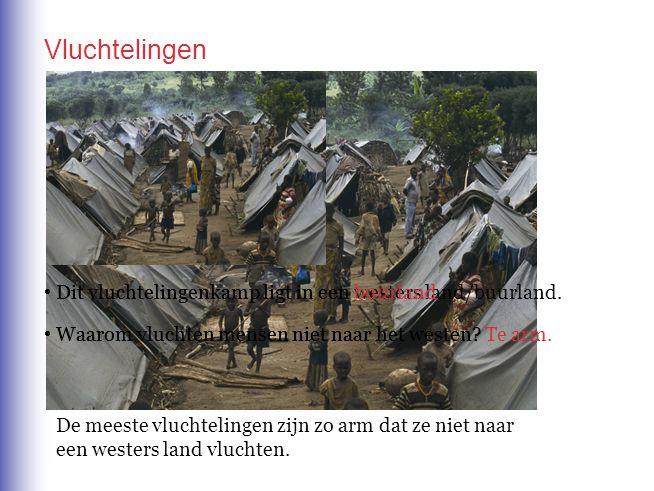 Vluchtelingen Dit vluchtelingenkamp ligt in een buurland.