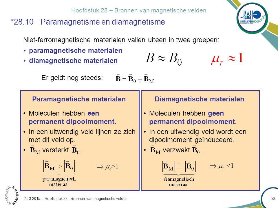 *28.10 Paramagnetisme en diamagnetisme