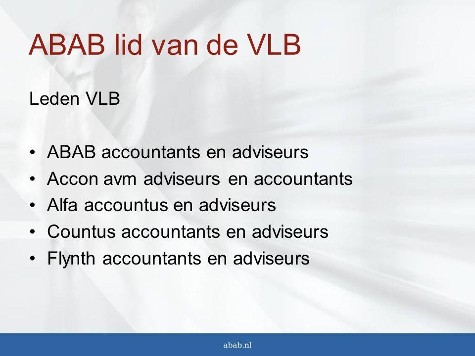 ABAB lid van de VLB Leden VLB ABAB accountants en adviseurs
