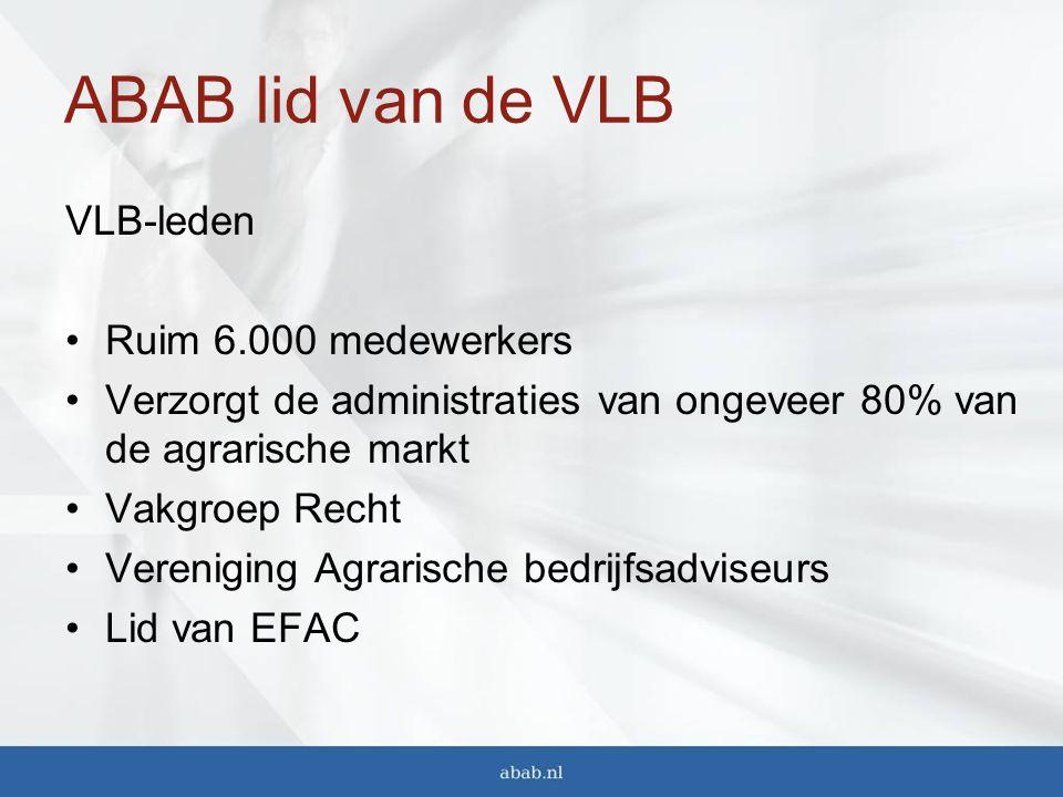 ABAB lid van de VLB VLB-leden Ruim 6.000 medewerkers