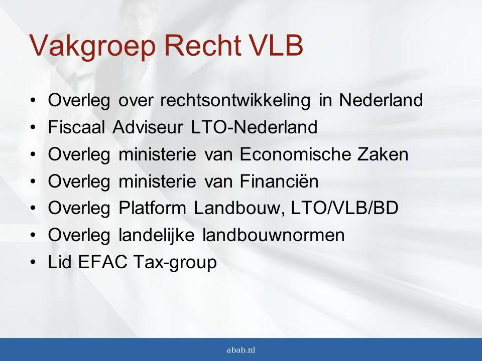 Vakgroep Recht VLB Overleg over rechtsontwikkeling in Nederland