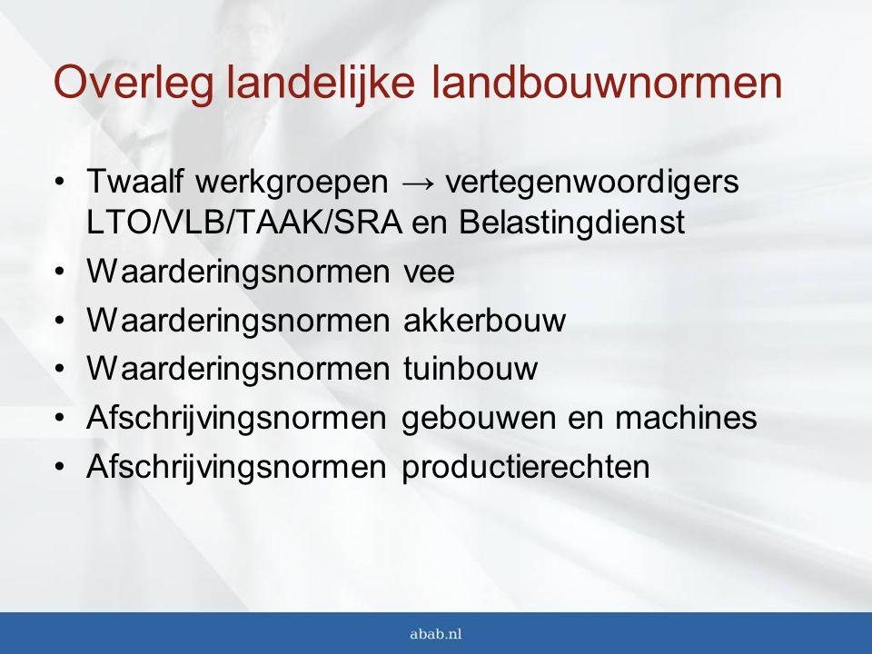 Overleg landelijke landbouwnormen