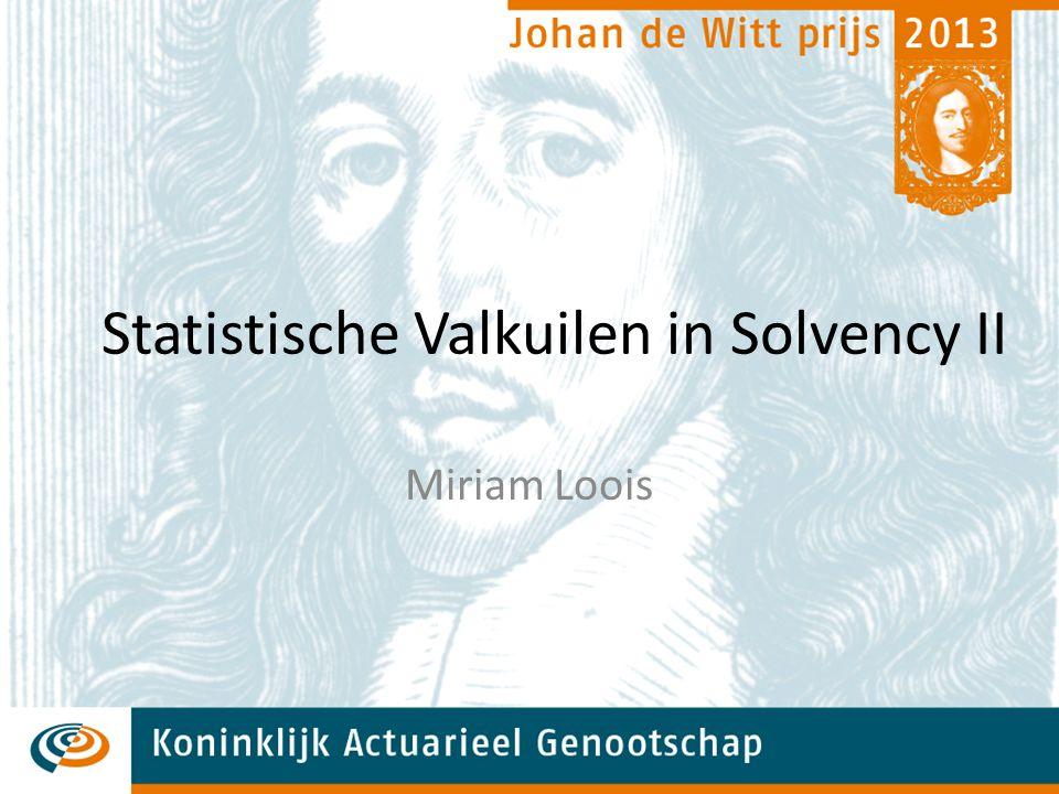 Statistische Valkuilen in Solvency II